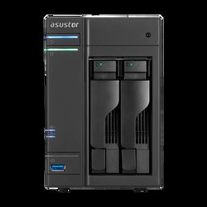 ASUSTOR AS6102T 2-Bay NAS, Dual-Core, 2GB DDR3L, GbE, USB 3.0, eSATA, HDMI, WoL, AES-NI