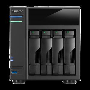 ASUSTOR AS6104T 4-Bay NAS, Duad-Core, 2GB DDR3L, GbE, USB 3.0, eSATA, HDMI, WoL, AES-NI