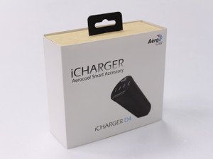 Aerocool 'iChargerD4' Desktop 4 Port Smart IC USB fast charger (6A 30W)