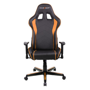 DXRacer F Series Gaming Chair, Sparco Style, Neck/Lumbar Support - Black & Orange