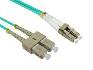 LinkBasic Multi Mode OM4 LSZH Duplex LC-SC Fibre Optic Patch Cord 3 Metre