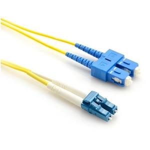 LinkBasic Single Mode OS1 LSZH Duplex SC-LC Fibre Optic Patch Cord 10 Metre
