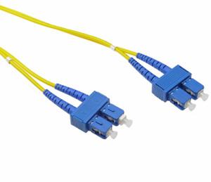 LinkBasic Single Mode OS1 LSZH Duplex SC-SC Fibre Optic Patch Cord 20 Metre