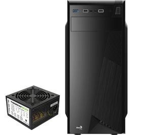 Aerocool CS-1101 Mid Tower Case USB 3.0 x 1, USB2.0 x 2 HD audio + Mic Rear 80mm Fan w/600W PSU ( AP