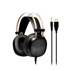 Promate 'Valiant' Superior Over-Ear Wired Professional Gaming Headset-Black