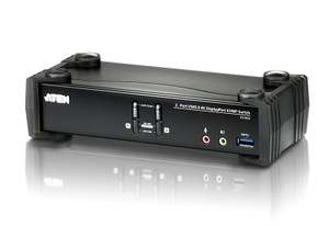 Aten 2 Port USB 4K DisplayPort KVMP USB 3.0 Switch. Support 4096 x 2160 @ 60Hz