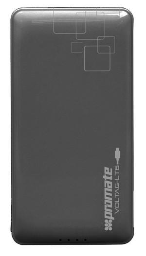 Promate 'volTag-LT6' 6000mAh Lithium Polymer Power Bank-Black