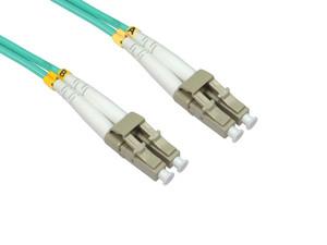 LinkBasic Multi Mode OM4 LSZH Duplex LC-LC Fibre Optic Patch Cord 1 Metre