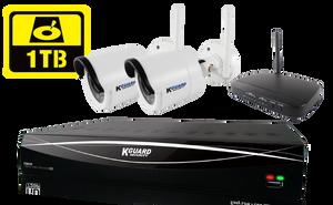 KGUARD HD481 4-CH Hybrid DVR with WiFi Receiver & 1TB