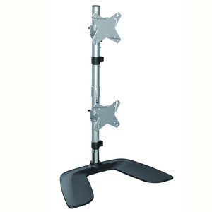 Brateck Free Standing Dual Vertical LCD Monitor Stand from 13''-27""