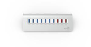 Aerocool ASA R3A0000 Aluminium USB 3.0 HUB w/ 7 Port USB3.0 and 3 high speed Charging Ports