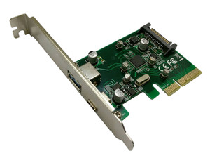 Welland Turbo Leopard UP-312-3 2-Port USB-A & USB-C PCI-E 2.0 Card w/Extra Low-Profile Bracket