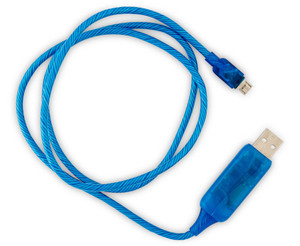Visible Flowing Micro USB Charging Cable - Blue