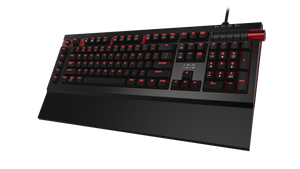AZIO ARMATO Red Backlit Gaming Keyboard with Cherry MX Brown Key Switches