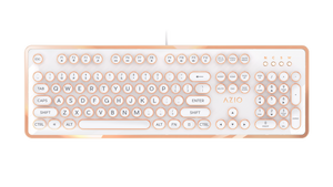 AZIO MK RETRO Typewriter Inspired Mechanical Keyboard in White