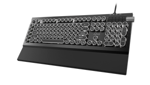 AZIO ARMATO CE Typewriter Inspired Gaming Mechanical Keyboard with OARMY Blue Key Switches