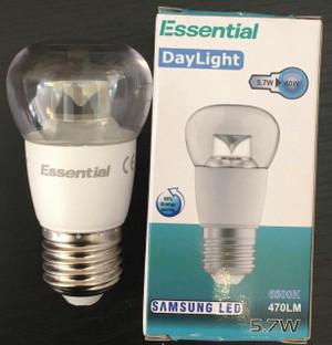 Jadens LED Round Bulb E27 P45 5.7W (470 lm) Cool White