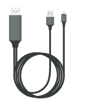 Plug & Play Lightning to HDMI Cable for iPhone & iPad - 2m