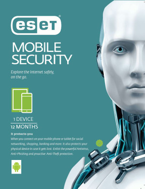 ESET Mobile Security For Android 1 Device 1 Year Retail Download Card