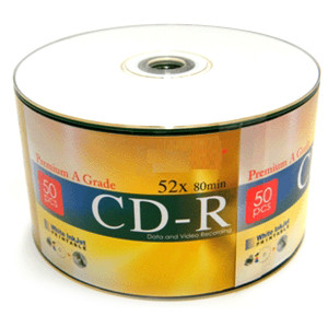 CD-R 52X 80 MIN/700MB Inkjet Printable White 50pc Pack