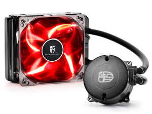 DEEPCOOL MAELSTROM 120T CPU Liquid Cooler AIO Water Cooling With 120mm PWM Fan Red LED AM4
