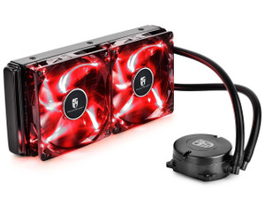 DEEPCOOL MAELSTROM 240T CPU Liquid Cooler AIO Water Cooling With 120mm PWM Fan Red LED AM4