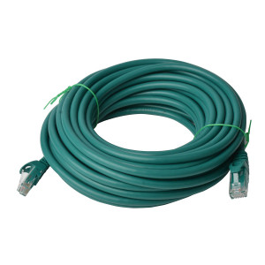 Cat 6a UTP Ethernet Cable, Snagless - Green 20M