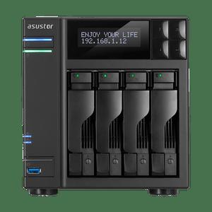 ASUSTOR AS6404T 4 Bay NAS Apollo Lake Quad-core CPU, 4K Output, USB 3.0 Type C, HDMI 2, WOW