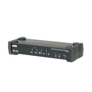 Aten 4 Port USB 3.0 4K DisplayPort KVMP Switch w/Built-in MST Hub, 1 HDMI and 1 DP output
