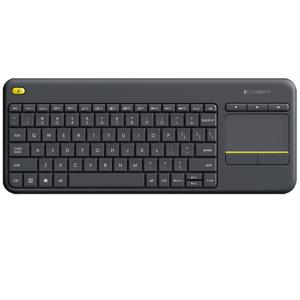 Logitech Wireless Keyboard K400 Plus, Black, USB Receiver, Touch Pad