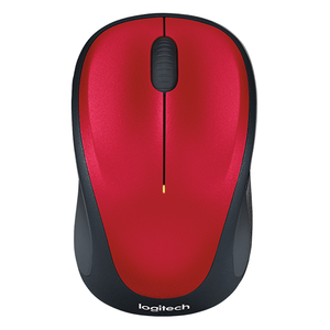 Logitech Wireless Mouse M235, 3 Button, USB Receiver, Scroll Wheel, Colour: Red
