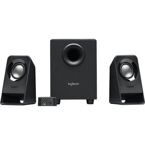 Logitech Speaker System 2.1, Z213, Black, Headphone Jack, 3.5mm Input, 7W RMS (Peak), Bass Adjust