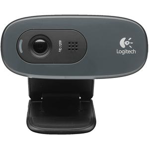 Logitech Webcam HD C270, USB, Monitor Clip