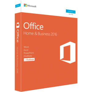 Microsoft Office 2016 Home & Business, 1 User, Medialess, Retail