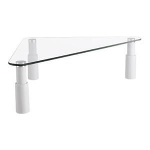 Brateck Universal Tempered Glass Corner Tabletop Monitor Riser