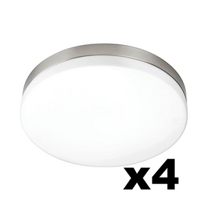OMNIZONIC LED Ceiling Light 12W (1000 lm) Natural White - 280mm Diameter- Pack of 4