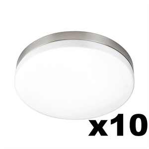 OMNIZONIC LED 10 Pack - Ceiling Light 12W (1000 lm) Natural White - 280mm Diameter - Pack of 10