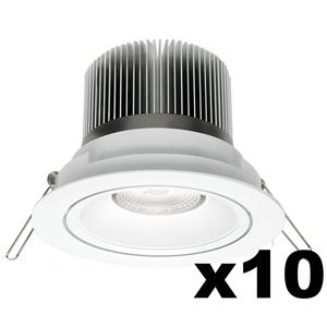 OMNIZONIC LED 10 Pack - Downlight 12W (600Lm) 3000K Warm White