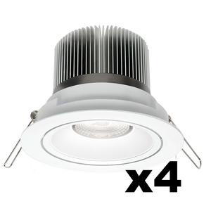 OMNIZONIC LED 4 Pack - Downlight 12W (600Lm) 3000K Warm White