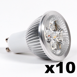 OMNIZONIC LED 10 Pack - Spotlight GU10 4W (250 lm) Warm White