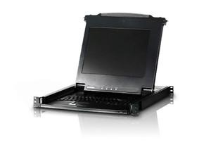 "Aten Rackmount USB-PS/2 VGA Single Rail Slideaway 17"" LCD KVM Console"