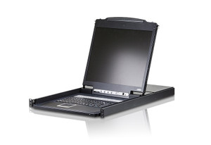 "Aten 16 Port Rackmount USB-PS/2 Single Rail 19"" LCD KVM, Cascadable, Multi-platform support"