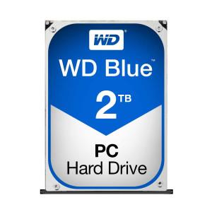 """WD Internal 2TB SATA3 3.5"""" Desktop Hard Drive (HDD) - Blue, 5400RPM, 2YR Wty"""