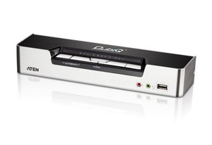 Aten 4 Port USB HDMI KVMP Switch with DOLBY Audio, USB Hub - Cables Included