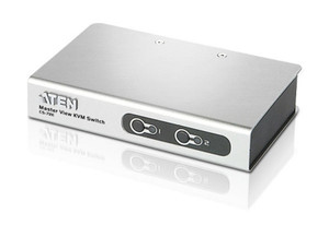 Aten 2 Port Slimline PS/2 KVM Switch- Cables Included