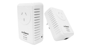 Edimax 500Mbps Nano PowerLine Adapter Kit with Integrated Power Socket