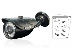 KGUARD HW912C 800TVL Outdoor Bullet Camera with 75 degrees viewing angle and 20 Meter Night Vision