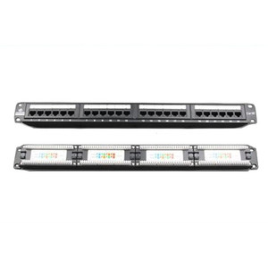 LinkBasic 24 Port Cat5E Patch Panel Rack Mount