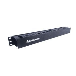 "LinkBasic 1RU 19"" Cable Management Rail 24 Slot Shallow (Plastic)"