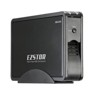 Welland EZSTOR ME-753SE 3.5' SATA to USB 3.0 & eSATA Tool-Free Enclosure - Black Aluminium